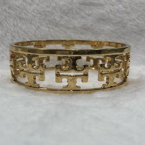 TORY BURCH Gold Logo Bracelet